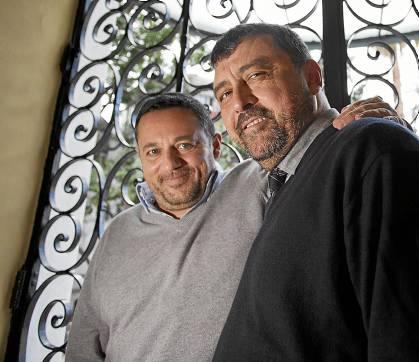 Los actores Pepón Nieto y Paco Tous presentaron ayer Mitad y mitad en el Lope de Vega / Pepo Herrera