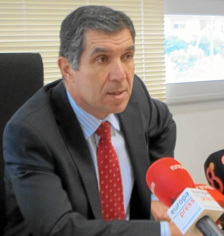 El presidente del Tribunal Superior de Justicia de Andalucía (TSJA), Lorenzo del Río, ayer en rueda de prensa.