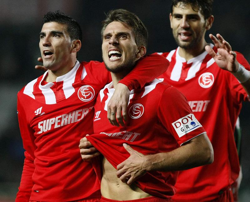 Carriço celebra su gol en Elche (Efe)