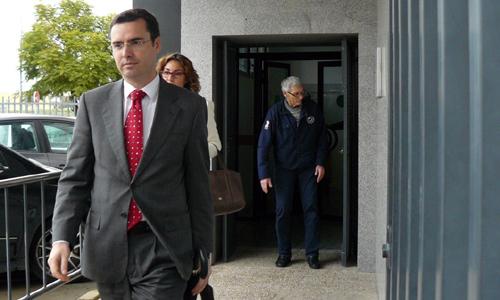 José Vicente Franco a la salida del juzgado.