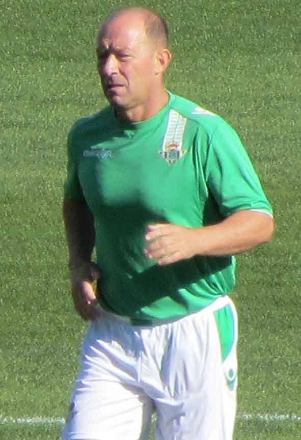 Calderón, el 17 de noviembre en el amistoso entre veteranos del Betis y el Real Madrid.