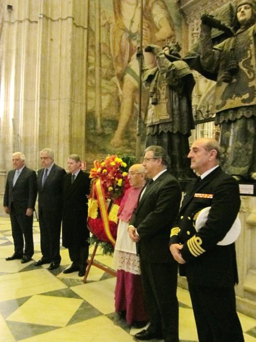 Conmemoración del 115 aniversario de la llegada de los restos de Colón a Sevilla