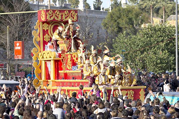 Cabalgata de los Reyes Magos de Sevilla. / Foto: Manu R.R. (Atese)