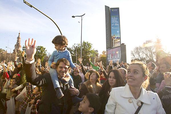 Cabalgata de los Reyes Magos de Sevilla. / Foto: J.M.Paisano