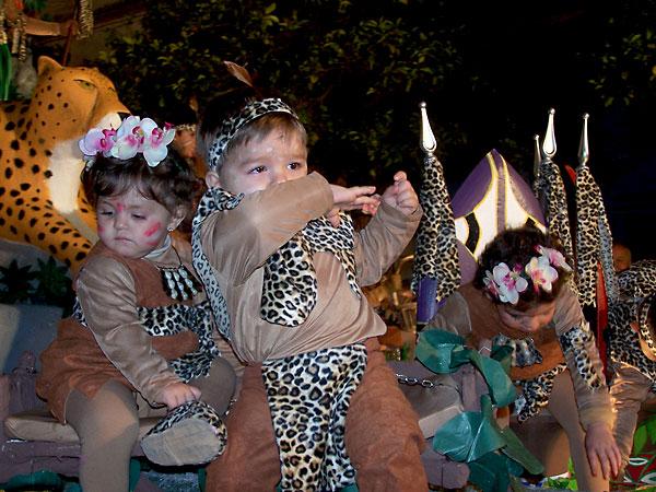 Niños de la carroza de La Selva en Villaverde del Río.