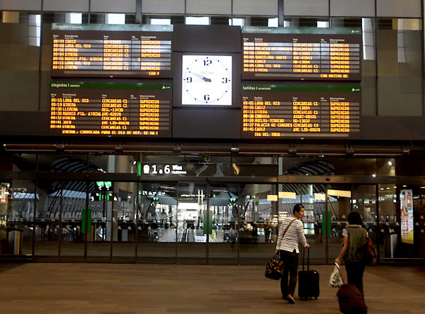 Estación de Santa Justa.