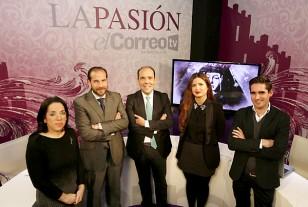 El equipo de La Pasión, en El Correo TV / Rodríguez Aparicio