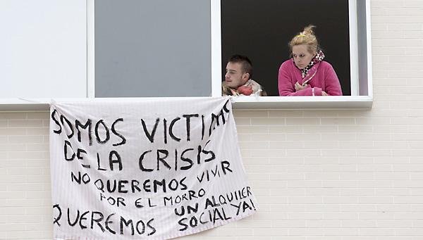 Ocupación de las viviendas VPO de Nuevo Amate. / Pepo Herrera