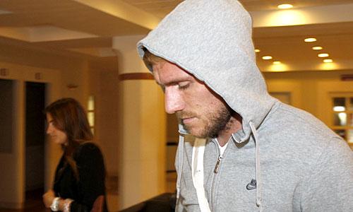Damien Perquis ha sido intervenido por un cólico y no jugará el viernes en Vigo.
