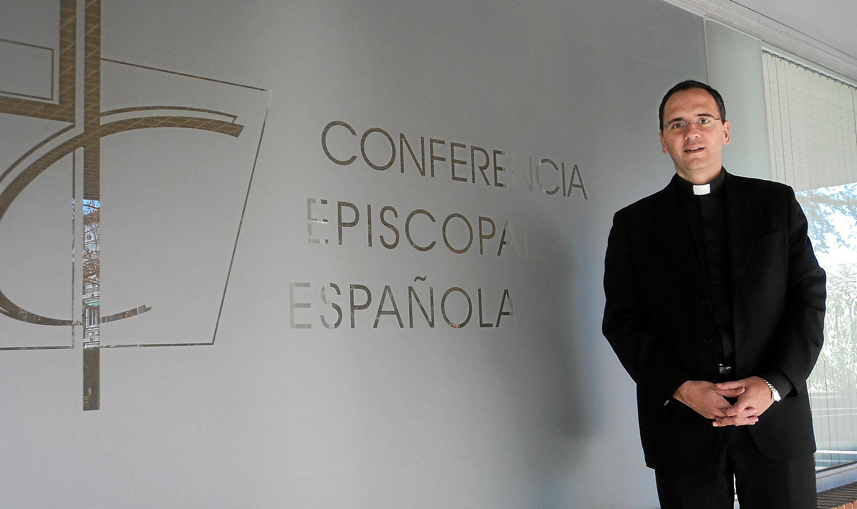 José Gabriel Vera Beorlegui, director del secretariado de Medios de Comunicación de la Conferencia Episcopal Española, durante esta misma semana en Madrid.