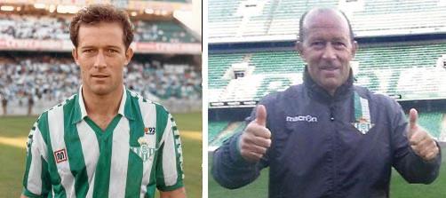 Gabriel Humberto Calderón, ayer y hoy en el Betis / El Correo - Real Betis