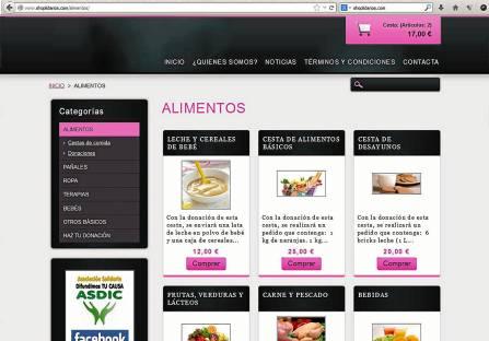 En la plataforma se pueden elegir lotes tipo con distintos precios y variedades de productos.