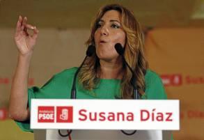 Díaz es, con 39 años, la primera mujer presidenta de la Junta. / Carlos Díaz (EFE)