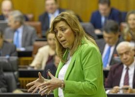 La presidenta de la Junta, Susana Díaz, ayer en el Parlamento