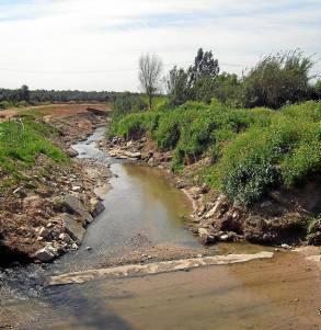 Un tramo del arroyo Riopudio. / el correo