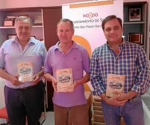 Jesús Díaz, José Pizarro Merchán y Jaime Ruiz, en el acto de presentación del libro.