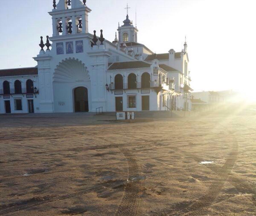 La imagen real que dstribuyó el Ayuntamiento de Almonte.
