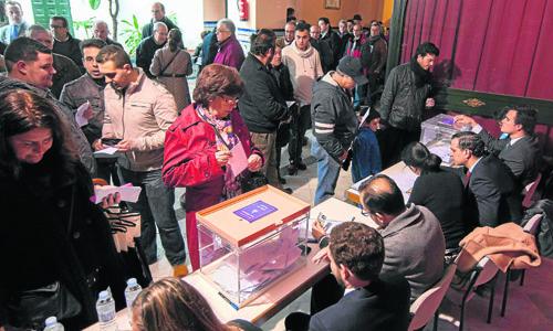 Sevillla 09 02 2014: Elecciones Hdad de los gitanosFOTO:J.M.PAISANO