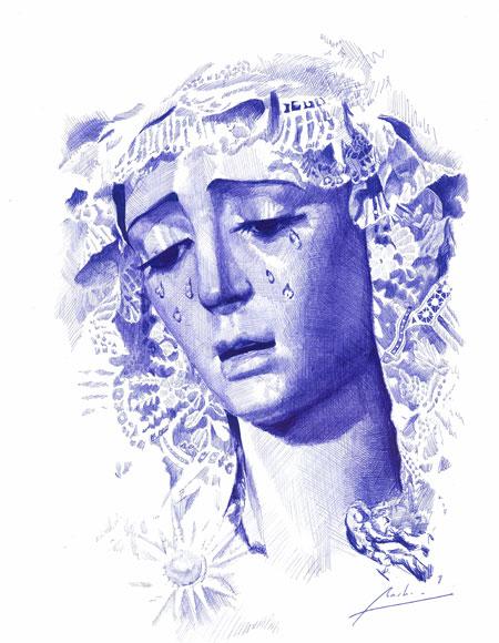 Arte cofradiero a boli de Juan Miguel Martín.
