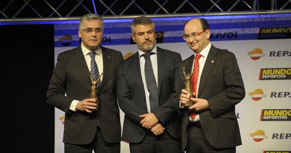 Pepe Castro recogió el galardón. (Foto: Mundo deportivo)