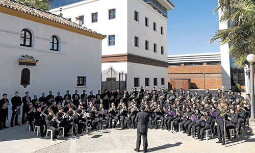 Los conciertos de marchas se desarrollaron junto al Cortijo de la Gota de Leche, en el parque empresarial Morera & Vallejo . / Foto:J.M. Paisano