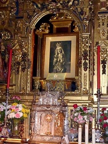 Un cuadro de la Virgen de Valme sustituye a la imagen.