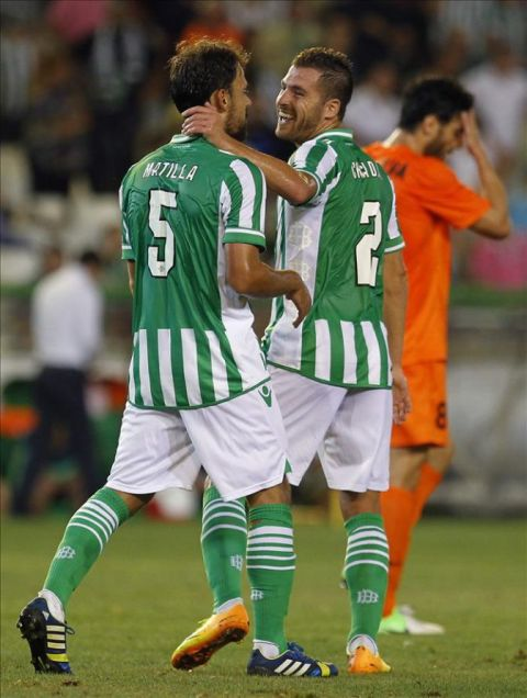 Matilla y Chica, en un partido de esta temporada / EFE