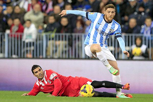 Málaga CF - Sevilla FC. / Foto: EFE