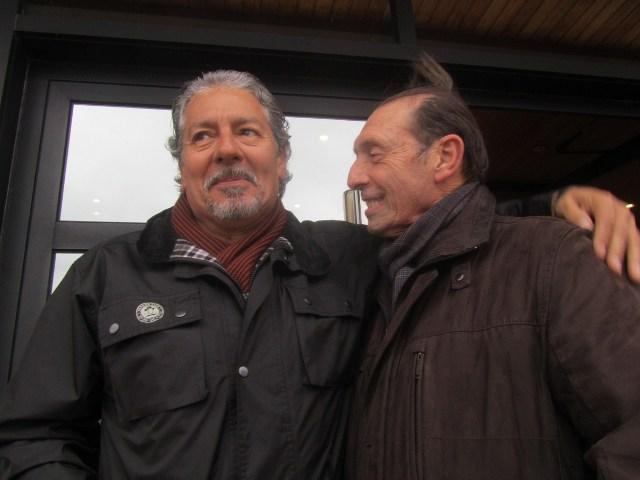Megido (izquierda) y Quini, en Gijón a finales de enero de este año / Real Sporting