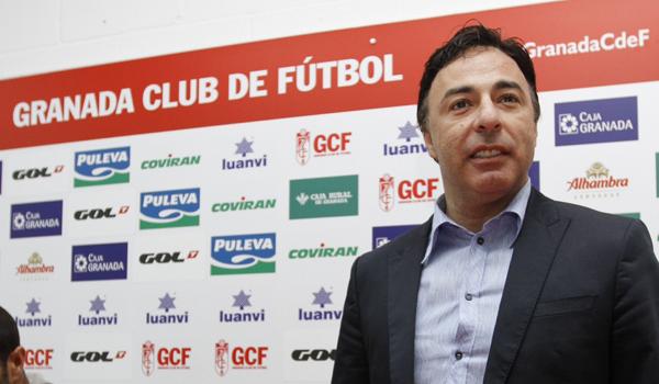 Quique Pina, presidente del Granada, este viernes / Granada CF