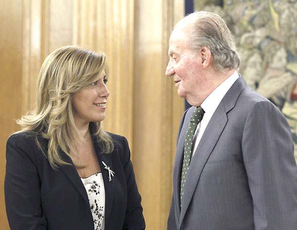 El Rey y Susana Díaz el pasado 13 de septiembre. / EFE