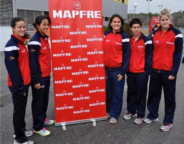 El equipo español de Copa Federación, este miércoles en Sevilla / RFET