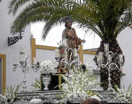 La imagen de San José en una procesión de los últimos años.