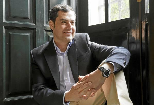 El nuevo presidente del PP andaluz, Juan Manuel Moreno Bonilla