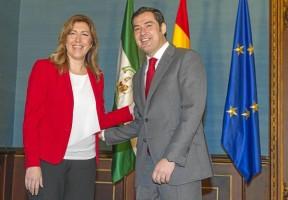 La presidenta andaluza, Susana Díaz, recibió el lunes al líder del PP-A, Juan Manuel Moreno Bonilla