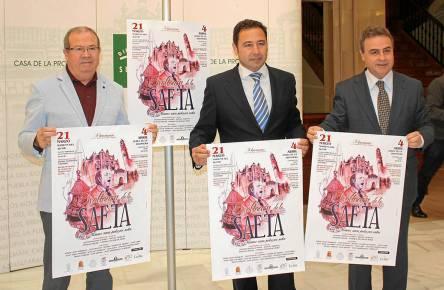 Presentación del cartel de 'Jerez y Mairena rezan juntos por saetas' en la Casa de la Provincia de Sevilla.