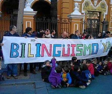 El colegio Jardines del Valle es uno de los 13 que el nuevo curso incorpora el bilingüismo tras la protesta de los padres.