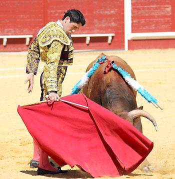 Daniel Araújo interpretó el mejor toreo de la mañana. / Álvaro Pastor Torres