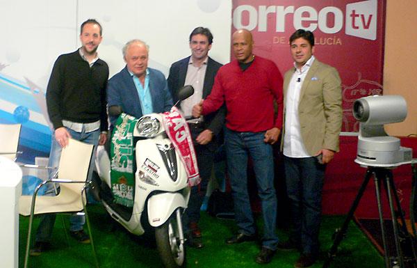 Javier Santos, Pepe Elías, David Martínez, Pintinho y Antonio Viola, (El Correo)