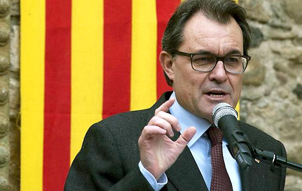 El presidente de la Generalitat de Cataluña, Artur Mas.