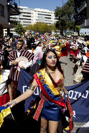 Carnaval boliviano este sábado en Los Remedios. / Pepo Herrera