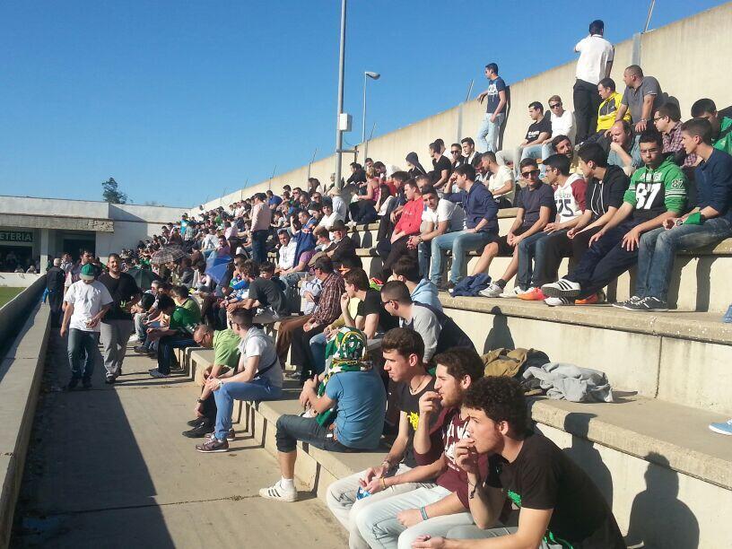 Imagen de la grada de la ciudad deportiva, este lunes / Deporte Sevilla TV