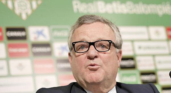 Manuel Domínguez Platas, presidente del Betis.