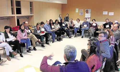El taller 'Laicos y el compromiso social: trabajando en la construcción del Reino' tuvo una excepcional acogida entre los asistentes. / Foto: Irene Gutiérrez