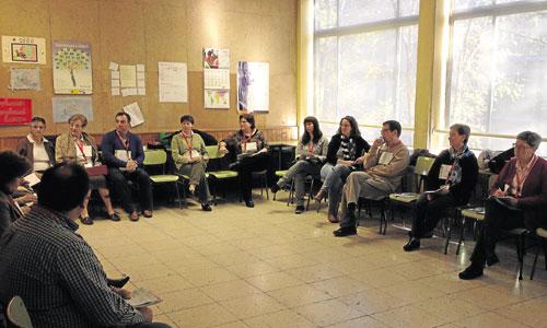Los participantes en el taller 'Vivir y avanzar en la misión compartida'. / Irene Gutiérrez