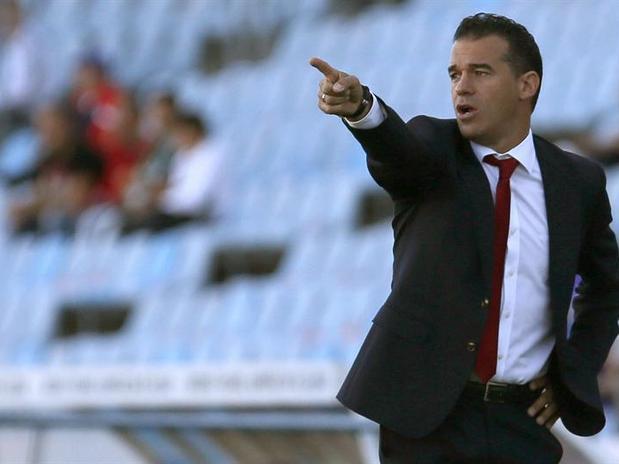 El entrenador del Getafe, Luis García.