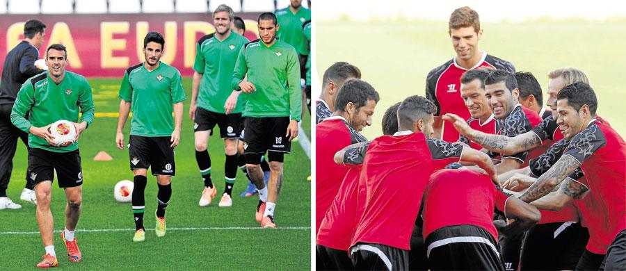 El Real Betis y el Sevilla FC están listos para jugarse el desenlace del gran derbi europeo / Kiko Hurtado - Ramón Navarro