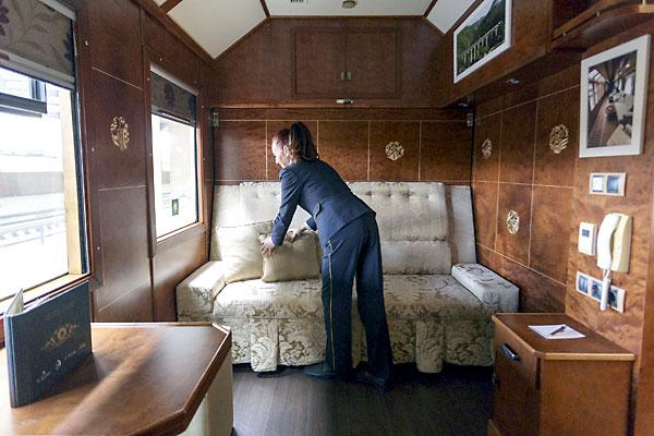 Tren Al Andalus. Habitaciones de lujo para un viaje de lujo. / Foto: José Luis Montero