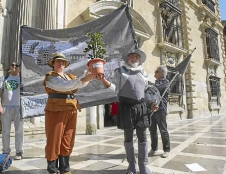 DON QUIJOTE Y SANCHO PANZA BATALLAN CONTRA UN NUEVO GIGANTE: EL ALGARROBICO