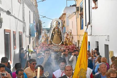 La Virgen de Consolación durante el primer día del triduo itinerante. / S. Criado